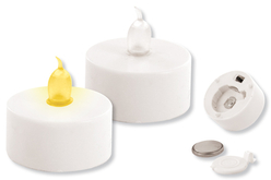 Bougies électriques blanches à effet scintillant or et argent