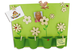 Fleurs en bois naturel - Set de 8 - Motifs bruts – 10doigts.fr - 2