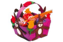 Set de 20 paniers pré-découpés en carton fort, 6 couleurs assorties