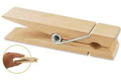 Méga pinces à linge - 15 cm - Pinces à linge en bois brut – 10doigts.fr