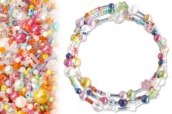 Kit bracelets farandole de perles fantaisie, en camaïeu couleurs pastels