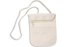 Pochette à bandoulières en coton naturel 3 poches - Coton, lin – 10doigts.fr - 2