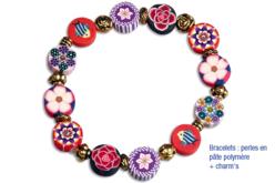 Perles rondelles Millefiori - 100 perles - Perles en pâte polymère – 10doigts.fr - 2