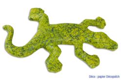 Lézard en papier mâché 17,5 cm - Animaux en papier mâché – 10doigts.fr - 2