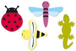 Insectes en bois décoré