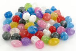 Perles aspect marbré - 50 perles - Perles acrylique – 10doigts.fr