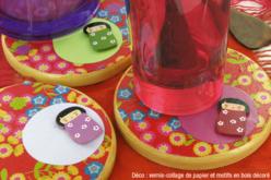 Dessous de verre rond en bois - Cuisine et vaisselle – 10doigts.fr - 2