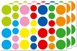 Maxi gommettes rondes - 3 planches - Toutes les gommettes géométriques – 10doigts.fr
