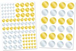 Gommettes géométriques rondes métallisées