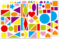 Maxi gommettes géométriques, formes assorties - 2 planches - Gommettes Géantes – 10doigts.fr - 2