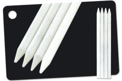 """Crayons blancs """"Concentré de craie"""" - 4 pièces - Craies, tableaux, ardoises – 10doigts.fr"""