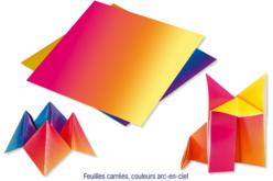 Papier origami arc en ciel