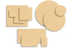 Supports plats en bois médium (MDF)