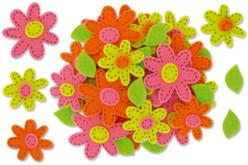 Feutrine auto-adhésive : fleurs prédécoupées
