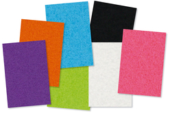 Set de 18 feutrines auto-adhésives, 7 couleurs assorties