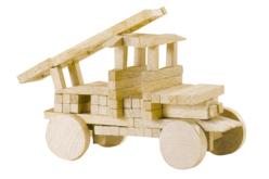 Bûchettes de construction en bois - Set de 200 - Bâtonnets, tiges, languettes – 10doigts.fr - 2