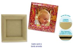 Cadre carré en carton papier mâché, avec bords arrondis - Cadres en carton – 10doigts.fr