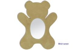 Miroir ourson en carton papier mâché