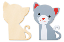 Chat en bois naturel - Motifs bruts – 10doigts.fr
