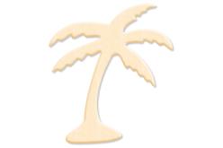 Palmier en bois naturel 8 x 4,4 cm