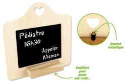 Cadre ardoise avec forme coeur et repose craie - Ardoises en bois – 10doigts.fr - 2