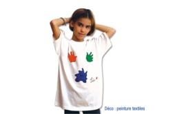 T-shirt économique 100% coton blanc jersey 160 gr - Coton, lin – 10doigts.fr - 2