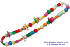 Perles en bois en camaïeu de bleu - 70 perles - Perles en bois – 10doigts.fr - 2