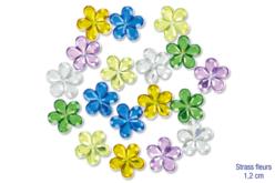 Strass fleurs - 18 pièces