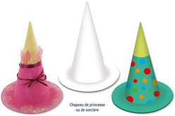 Chapeau de magicien, de sorcier ou de princesse - Lot de 10 - Mardi gras, carnaval – 10doigts.fr - 2