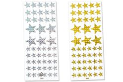 Étoiles holographiques - 102 stickers - Gommettes Noël – 10doigts.fr