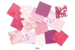 Set d'environ 140 papiers artisanaux indien en camaïeu rose