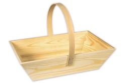 Panier de jardinier ou de vendanges, en bois