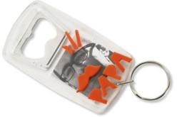 Porte-clés décapsuleur - Lot de 5 - Plastique Transparent – 10doigts.fr - 2