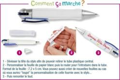 """Stylo bille à personnaliser - Kits activités """"Cadeau à offrir"""" – 10doigts.fr - 2"""
