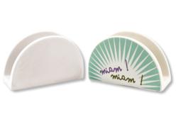 Range-serviettes ou courrier en terre cuite blanche - Supports en Céramique et Terre Cuite – 10doigts.fr