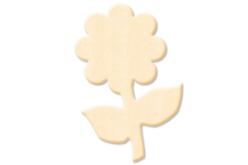 Fleur n°2 en bois naturel - Motifs bruts – 10doigts.fr