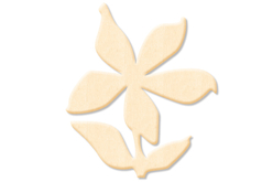 Fleur n°4 en bois naturel - Motifs bruts – 10doigts.fr