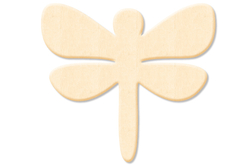 Libellule en bois naturel - Motifs bruts – 10doigts.fr