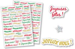Gommettes messages de Fêtes - 2 planches - Gommettes Noël – 10doigts.fr