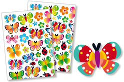 Gommettes papillons - 2 planches - Gommettes Animaux – 10doigts.fr - 2