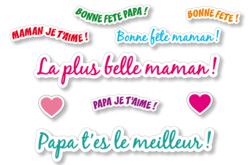 Gommettes Messages - 2 planches - Messages célébrations – 10doigts.fr - 2