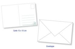 """Carte postale gommette """"Enfant cœur"""" - Gommettes Histoires et décors – 10doigts.fr - 2"""
