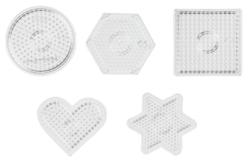 Plaques transparentes pour perles fusibles - Set de 5 - Perles Fusibles 5 mm – 10doigts.fr
