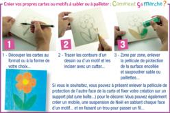 Carte double-face pour carte à sable - Sable coloré – 10doigts.fr - 2
