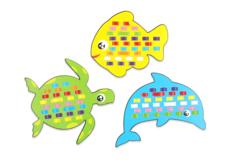Cartes à tisser animaux marins- Set de 6 - Kits activités d'apprentissage – 10doigts.fr - 2