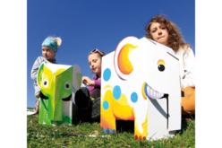 Animaux géants à décorer - Set de 3 - Supports blancs – 10doigts.fr - 2