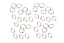 Anneaux métalliques doubles argentés ø 5 mm