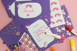 Kit invitations Licorne - 10 invitations d'anniversaire - Anniversaires – 10doigts.fr - 2