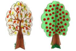 Grand arbre 4 saisons en bois à monter - Kits activités sur bois – 10doigts.fr - 2