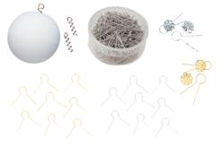 Attaches métalliques polystyrène